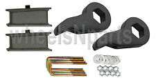 "Lift Kit Chevy Blk Torsion Keys 3"" Fab. Steel Blocks 99-06 Silverado Sierra 4x4"