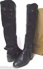Ugg Italian Collection Cortona Weave Black Woven Women Boots US7/UK5.5/EU38/JP24