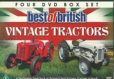 BEST OF BRITISH VINTAGE TRACTORS - 4 DVD BOX SET