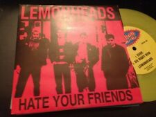 "LEMONHEADS - HATE YOUR FRIENDS 7"" SINGLE EP AUSTRALIA AU GO GO YELLOW VINYL"