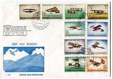 1962 FDC San Marino Stroia dell'aeroplano First Day Cover