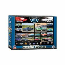 Classic American Cars of the 1950's Jigsaw Puzzle - 1000 pc.