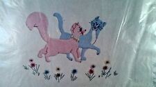 Vintage Paragon Walt Disney Aristocats  Baby Blanket Embroidery Kit new sealed