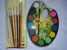 Water Color Artist Palette With 6 Paint Brush and Oil pastels and 12 colours
