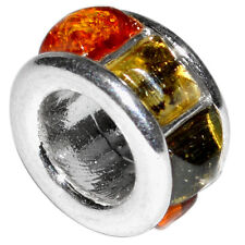 2.2g Authentic Baltic Amber 925 Sterling Silver Pendant Jewelry A439
