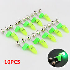 10Pcs Night Fishing Accessory Rod Tip LED Light Fish Bite Double Alarm Bells