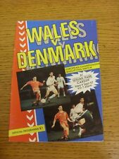 09/09/1987 Wales v Denmark [At Cardiff City] . Thanks for viewing our item, if y