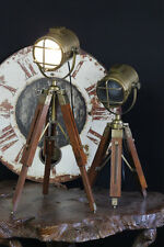 Rustic Hand Made Tripod Nautical Spot ,Light Table Lamps Bedside Tripod Lamp