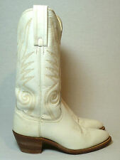 Vintage Frye White Leather Western Biker Motorcycle Cowboy Riding Boots Wmns 6 B