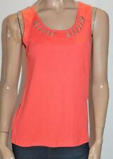 Rockmans Designer Orange Cutout Sleeveless Tank Top Size S BNWT #sD114