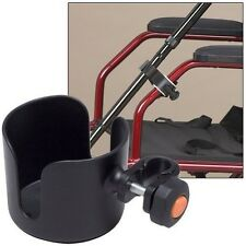 Cup & Cane Holders Clip On Accessory For Wheelchair Walker Rollator No To... New