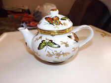 Formalities by Braum Bros Teapot Trinket Box with Butterflies