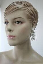 Stunning Diamante Earrings Silver Colour- Ideal Gift - COSTUME JEWELLERY-CJ-007-