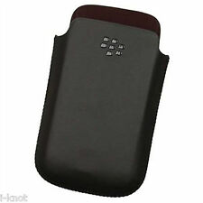 Genuine Blackberry Leather Pocket Pouch Case For 9300 Curve 9780 ,9700 Bold BLAK