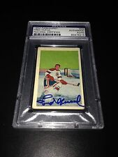 Fred Hucul Signed 1952-53 Parkhurst Card Blackhawks PSA Slabbed #83476215