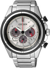 Citizen Eco-Drive Mens Titanium Chronograph. Sporty. Super Light. CA4240-58A