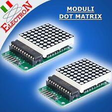 2x MODULO DOT MATRIX 8x8 MAX7219 DISPLAY SERIALE a MATRICE LED ROSSI x ARDUINO