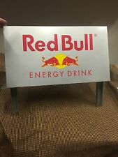 Metal Red Bull Energy Drink Display Sign Silver Man Cave TOOL BOX Garage Wall