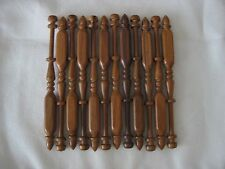 """12x bobbin lace bobbins 4.5"""" square in Ipe Rosewood that do not roll on pillow"""