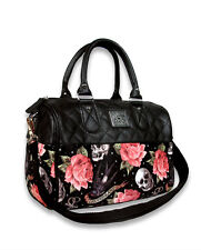 Liquorbrand Roses Tattoo Faux Leather Gothic Rockabilly Handbag