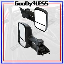 88-98 Chevy GMC C/K 1500 2500 Suburban Tahoe Yukon Towing Manual Mirrors Set Tow