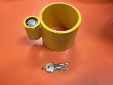 "Steel Kingpin Lock - Fits Heavy Duty Truck Trailer 2"" Kingpins"