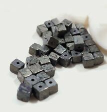 Cute! Metallic Pyrite Natural Gem Stone Cube Spacer Beads 4MM (30)