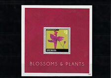 Grenada 2013 MNH Blossoms & Plants 1v S/S Flowers Calopogon Orchids Grass Pink