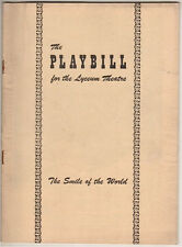 """Ruth Gordon """"The Smile of the World"""" Playbill FLOP 1949 Ossie Davis & Ruby Dee"""