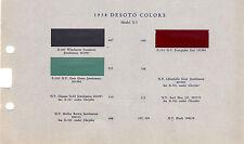 1938 DE SOTO DESOTO STANDARD DELUXE CHRYSLER CORP VALENTINE VALSPAR PAINT CHIPS