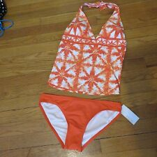 Women's Michael Kors 2 piece halter tankini set bathing/swim suit S new NWT $124