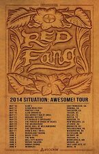 "RED FANG ""2014 SITUATION: AWESOME! TOUR"" CONCERT POSTER - Band Logo & Tour Dates"