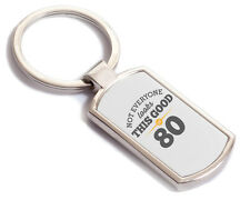 80th Birthday Gift Present Idea For Men Women Ladies Dad Mum Happy 80 Key Ring
