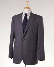 NWT $3295 BELVEST Medium Gray Stripe Super 120s Wool Suit 42 R (Eu 52)