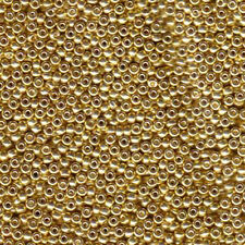 Galvanized Gold Miyuki 11/0 rocailles glass seed beads 24 grams