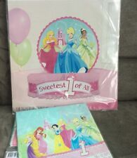 Disney Princess 1st Birthday Party Centerpiece & Tablecloth Hallmark Decorations