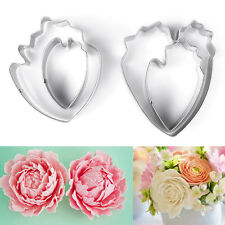 4Pcs Peony Cookie Cutter Stainless Steel Flower Mould Tool Cake Cutters Biscuit