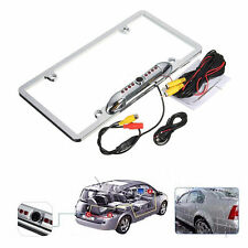 Car License Plate Frame Mount Rear View Backup Camera 8 IR Night Vision Light1