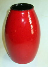 "Scheurich Amano Germany Modern Art Pottery Vase Maroon Red Oxblood 7.5"" Tall"