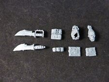 40K Orks : Ork Boyz Knives Ammo Pouches Trophy Heads / Skulls Glyph Plates Parts