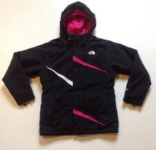 THE NORTH FACE GIRL'S BLACK & PINK HYVENT WINTER SKI JACKET SIZE LARGE 14/16
