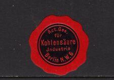 402965/ Siegelmarke - Act. Ges. für Kohlensäure Industrie - Berlin N.W. 6