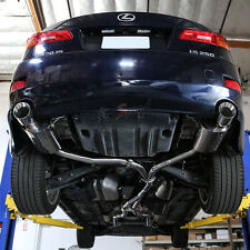 J2 ENGINEERING DUAL TIP CATBACK EXHAUST SYSTEM FOR 06-12 LEXUS IS250 IS350 V6