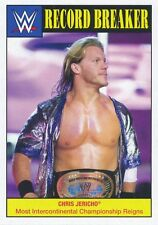 #10 CHRIS JERICHO 2016 Topps WWE Heritage RECORD BREAKER MOST INTERCONTIN REIGNS