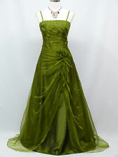 Cherlone Green Long Ballgown Wedding Evening Bridesmaid Formal Dress Size  14-16