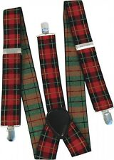 Tartan / Punk / Goth / Scottish / EMO / Bay City Rollers Braces fancy Dress