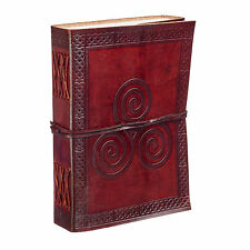 Fair Trade Handmade Celtic Triskelion Leather Journal Notebook Diary