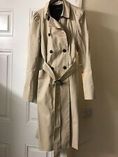 Zara Long Rain Trench Coat Size 8-10