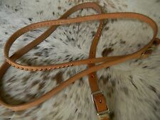 Light Oil Leather Copper Studs Western Roping Contest Trail Rein New Horse Tack