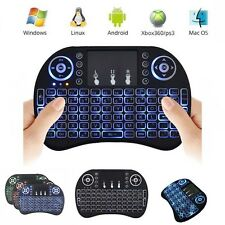 i8 BACKLIT MINI KEYBOARD BACKLIGHT TASTIERA WIRELESS USB TOUCHPAD ANDROID BOX